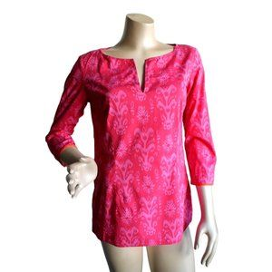 Harolds Pink Orange  Tunic Shirt Top Size S